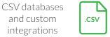 CSV databases icon
